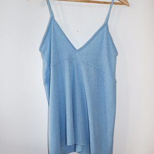 Zara Trafaluc Blue Knit Tank Top